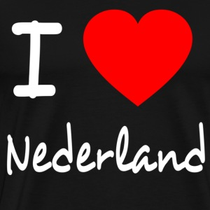 I LOVE THE NETHERLANDS Sweat-shirts - T-shirt Premium Homme
