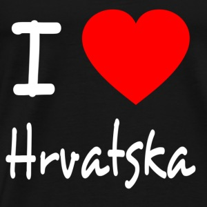 I LOVE CROATIA / HRVATSKA Tops - Men's Premium T-Shirt