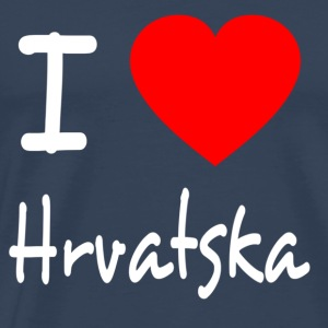 I LOVE CROATIA / HRVATSKA Long Sleeve Shirts - Men's Premium T-Shirt