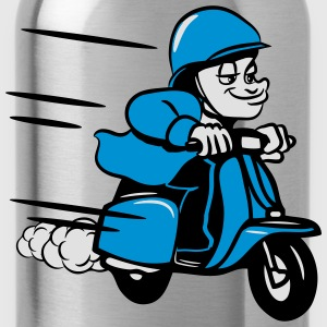 Scooter ride comic humorous T-Shirts - Water Bottle