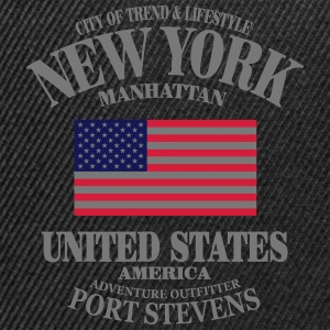 New York  - United States Flag Pullover & Hoodies - Snapback Cap
