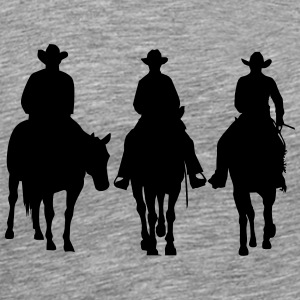 Trio - Western riding Manches longues - T-shirt Premium Homme