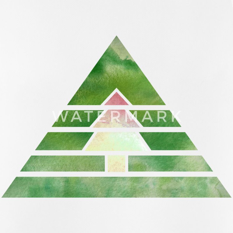 Hipster Triangle Christmas Tree (Watercolor) Vêtements de sport - Débardeur respirant Homme