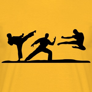 Martial Arts - 3 Fighters Toppar - T-shirt herr