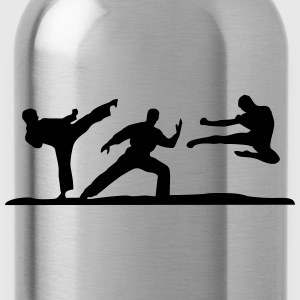 Martial Arts - 3 Fighters Hoodies - Water Bottle