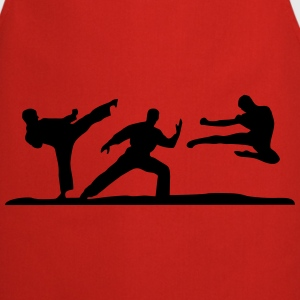Martial Arts - 3 Fighters Sudaderas - Delantal de cocina