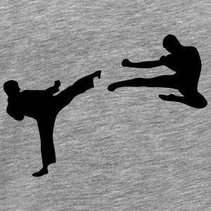 Martial Arts - 2 Fighters Topper - Premium T-skjorte for menn