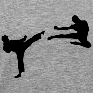 Martial Arts - 2 Fighters Långärmade T-shirts - Premium-T-shirt herr