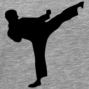 Martial Arts Fighter 1 Långärmade T-shirts - Premium-T-shirt herr