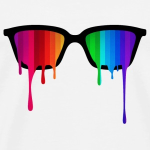 Rainbow - Spectrum (Pride) / Hipster Nerd Glasses Sweat-shirts - T-shirt Premium Homme
