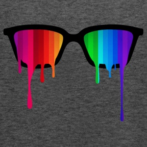 Rainbow - Spectrum (Pride) / Hipster Nerd Glasses Hoodies & Sweatshirts - Women's Tank Top by Bella