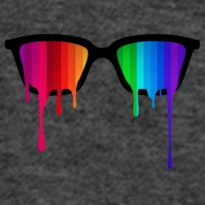 Rainbow - Spectrum (Pride) / Hipster Nerd Glasses Caps & Hats - Women's Tank Top by Bella