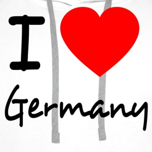 I LOVE GERMANY Shirts - Men's Premium Hoodie