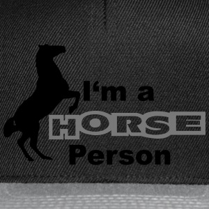 I'm a Horse Person Sweat-shirts - Casquette snapback