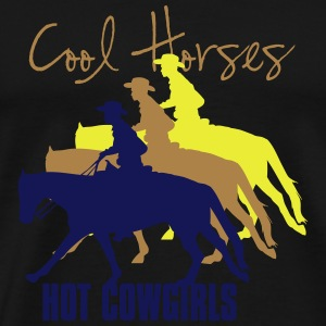 Cool horses - Cowgirls Other - Men's Premium T-Shirt