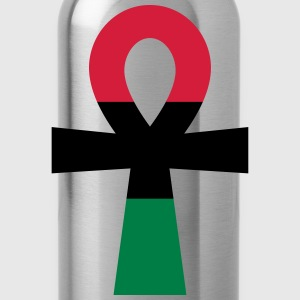 Red, Black & Green Ankh T-Shirts - Water Bottle