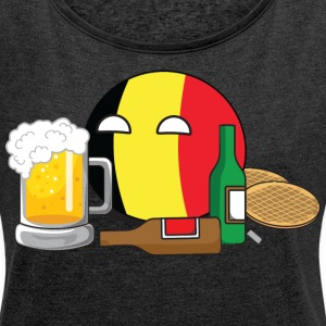 BelgiumBall Hoodies & Sweatshirts - Women's T-shirt with rolled up sleeves