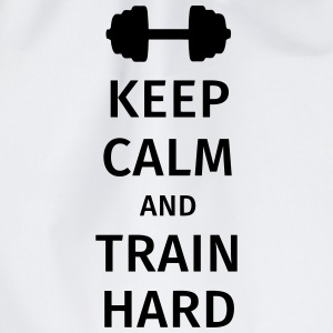 keep calm and train hard T-skjorter - Gymbag