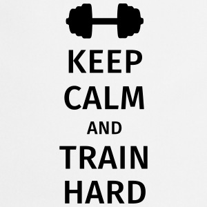 keep calm and train hard T-skjorter - Kokkeforkle