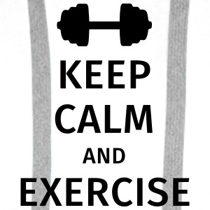 keep calm and exercise Kopper & tilbehør - Premium hettegenser for menn