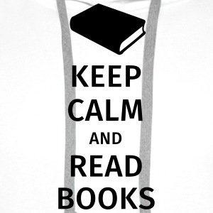 keep calm and read books T-shirts - Herre Premium hættetrøje