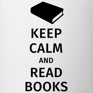 keep calm and read books T-shirts - Mok
