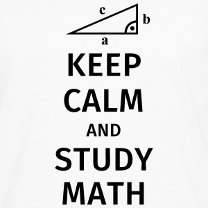 keep calm and study math Tee shirts - T-shirt manches longues Premium Homme
