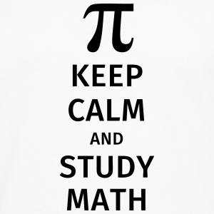 keep calm and study math T-shirts - Mannen Premium shirt met lange mouwen