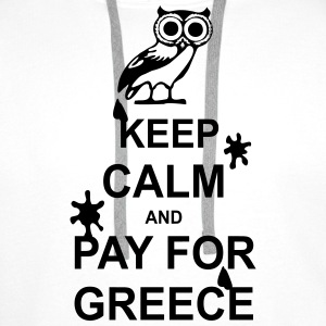 Keep calm and pay for Greece - 1 colour Tee shirts - Sweat-shirt à capuche Premium pour hommes