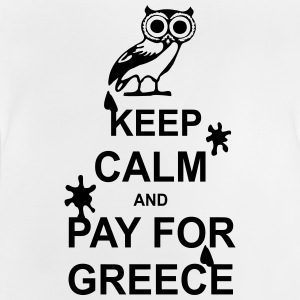 Keep calm and pay for Greece - 1 colour Magliette - Maglietta per neonato