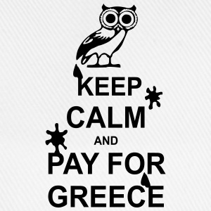 Keep calm and pay for Greece - 1 colour Väskor & ryggsäckar - Basebollkeps