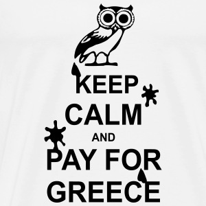 Keep calm and pay for Greece - 1 colour Skjorter med lange armer - Premium T-skjorte for menn