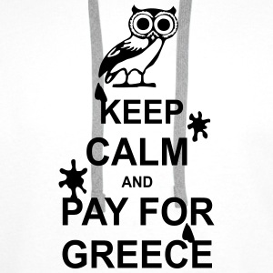 Keep calm and pay for Greece - 1 colour Tank Tops - Men's Premium Hoodie