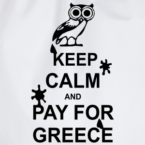 Keep calm and pay for Greece - 1 colour Topy - Worek gimnastyczny