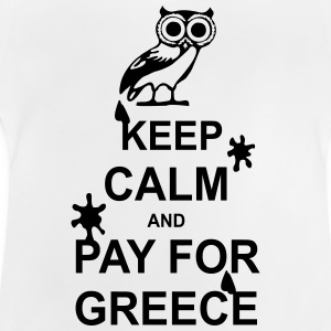 Keep calm and pay for Greece - 1 colour Skjorter - Baby-T-skjorte
