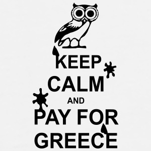Keep calm and pay for Greece - 1 colour Krus & tilbehør - Herre premium T-shirt