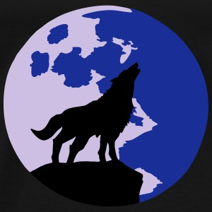 wolf and full moon Tops - Mannen Premium T-shirt