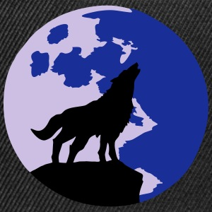 wolf and full moon Tee shirts - Casquette snapback