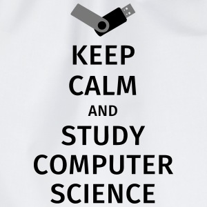 keep calm and study computer science T-skjorter - Gymbag