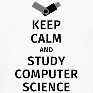keep calm and study computer science T-skjorter - Premium langermet T-skjorte for menn