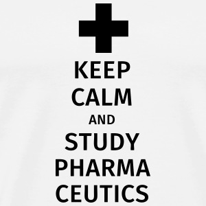 keep calm and study pharmaceutics Mokken & toebehoor - Mannen Premium T-shirt