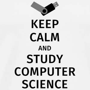 keep calm and study computer science Muggar & tillbehör - Premium-T-shirt herr