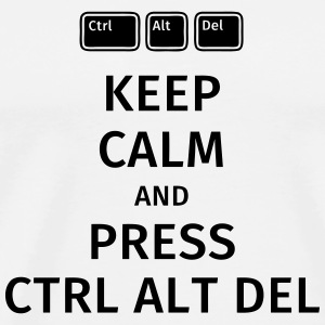 keep calm and press ctrl alt del Muggar & tillbehör - Premium-T-shirt herr