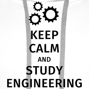 keep calm and study engineering Camisetas - Sudadera con capucha premium para hombre