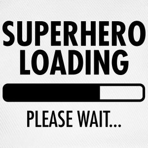 Superhero Loading- Please Wait... Tee shirts - Casquette classique