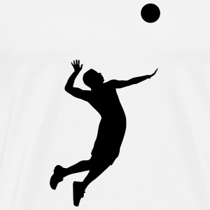 Volleyball, Volleyball Player Tröjor - Premium-T-shirt herr