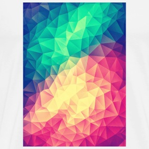 Low Poly Triangles / Geometry Color - Phone Case Buttons - Mannen Premium T-shirt