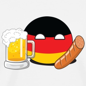 GermanyBall Mouse Pad (horizontal) - Mannen Premium T-shirt