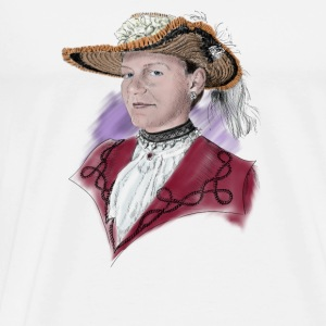 Woman with hat Toppar - Premium-T-shirt herr