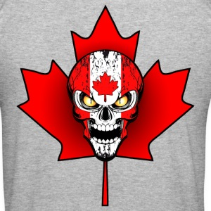 canada skull 02 Sweat-shirts - Tee shirt près du corps Homme